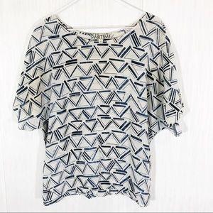 Geometric Silk Blouse